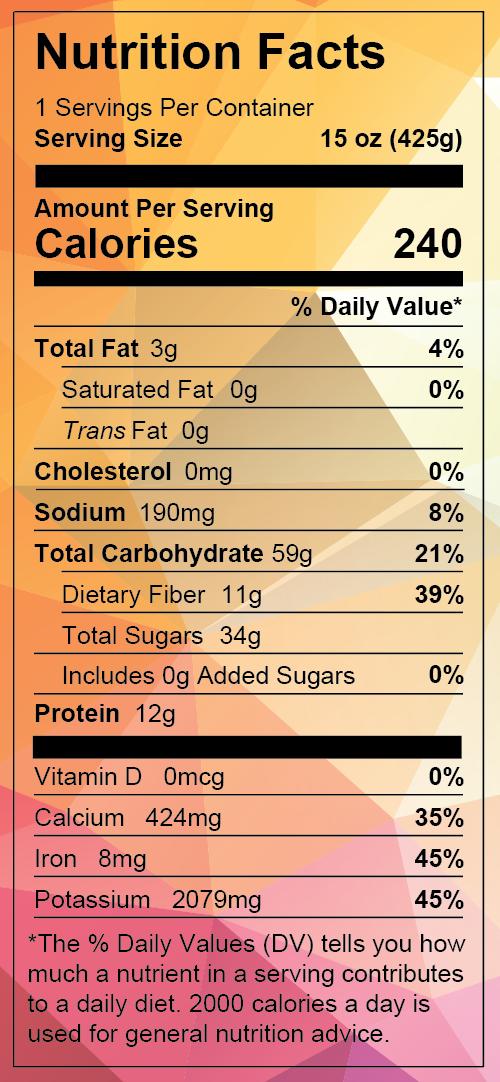 nutrition info